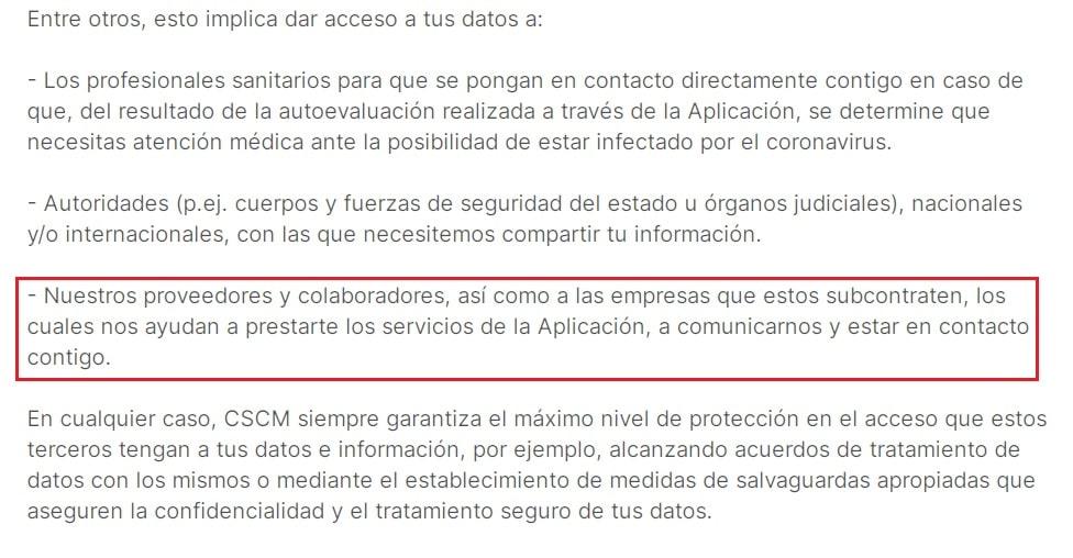 Política de privacidad de la app