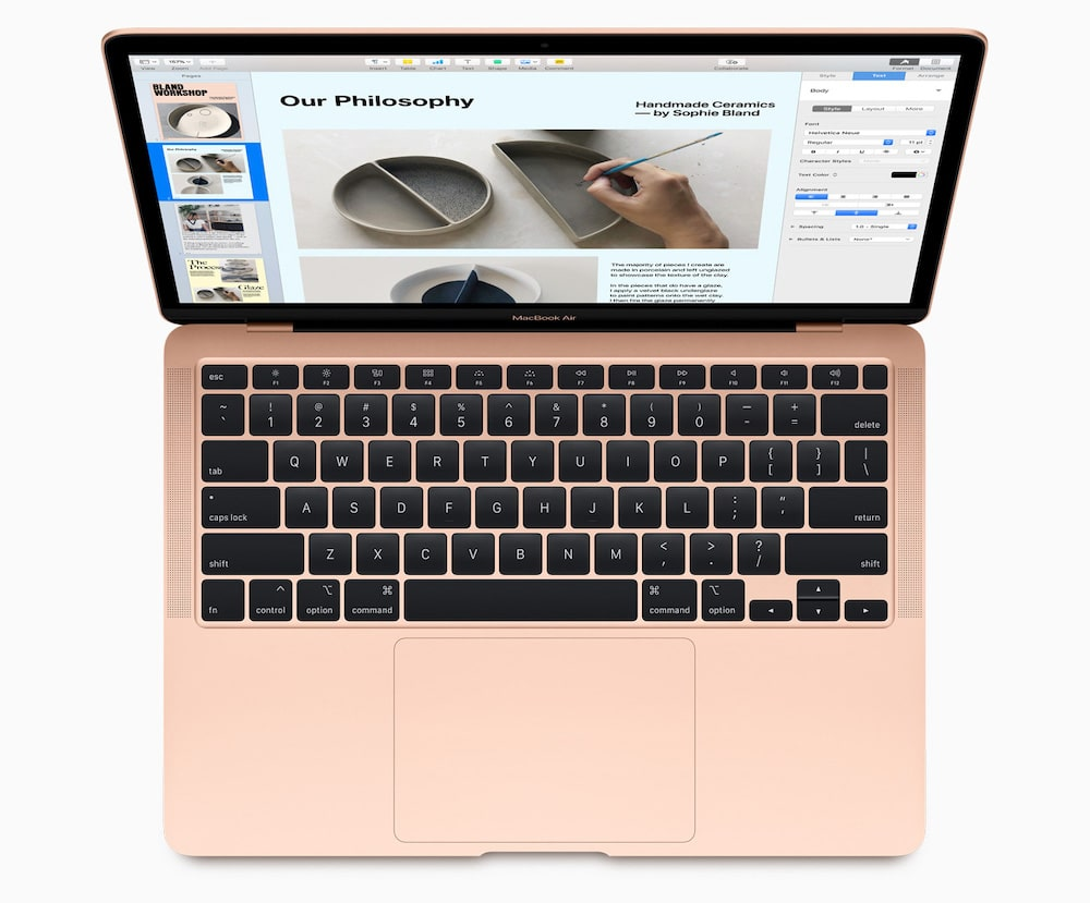 MacBook Air 2020 en color oro