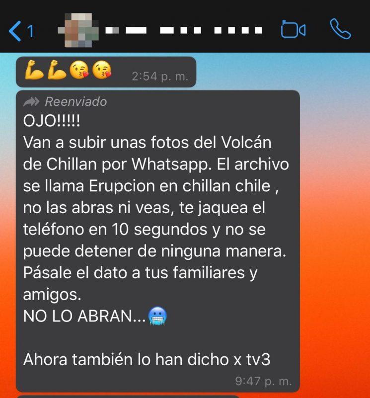 Van a subir unas fotos del Volcán de Chillan