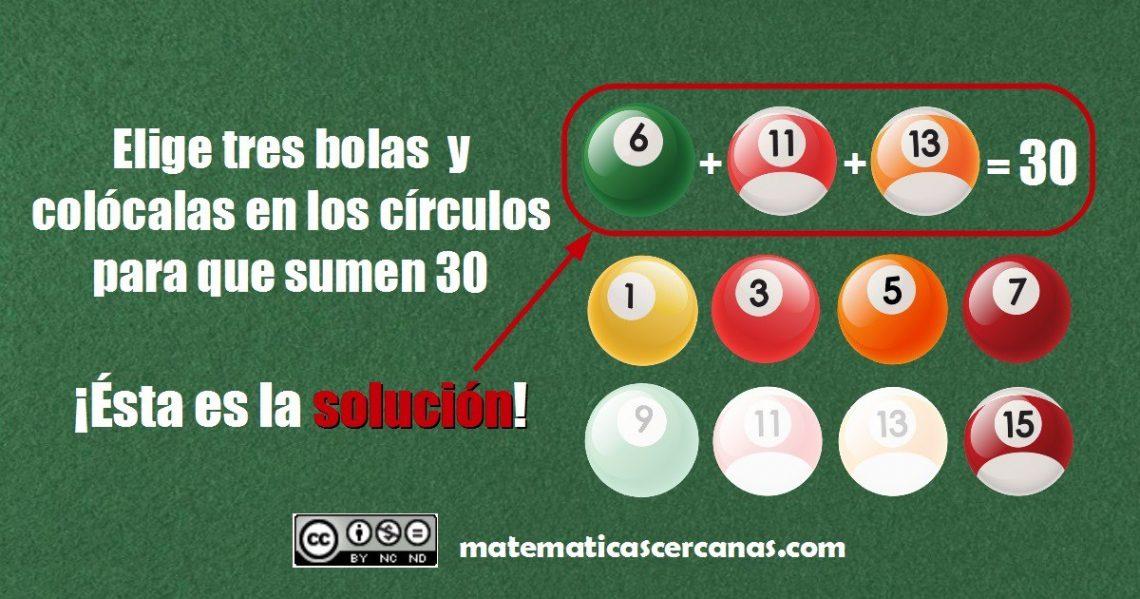 selecciona 3 bolas y colócalas dentro de los círculos solución