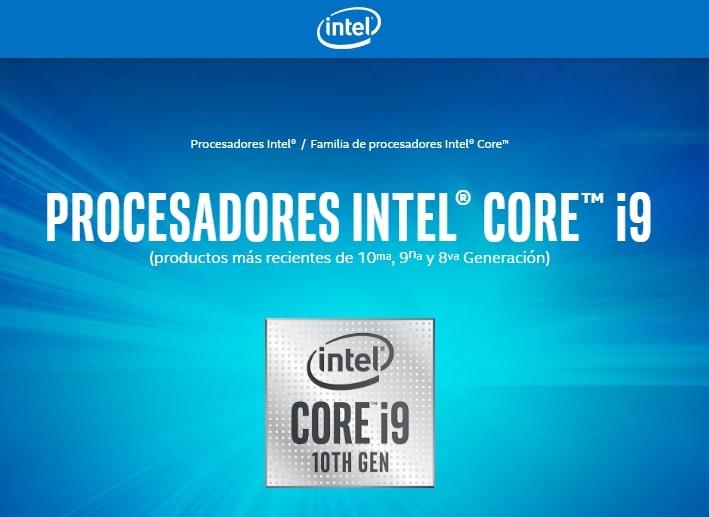 Chip procesador Intel Core serie H de 10ª Generación