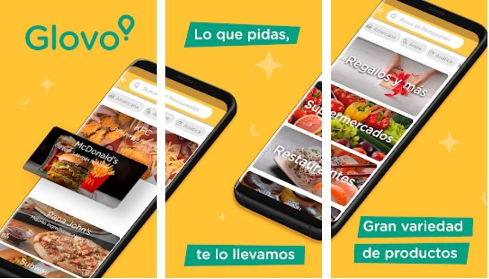 Glovo app está dentro de las mejores aplicaciones para pedir comida a domicilio 2020