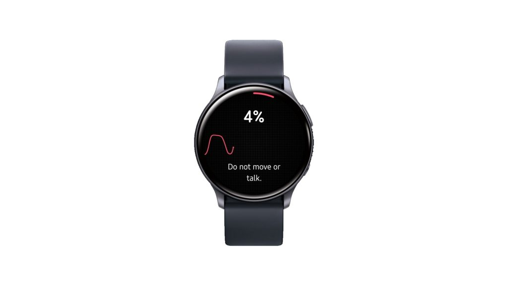 Galaxy Watch midiendo presión arterial