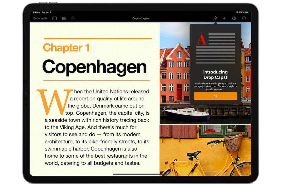 Pages de iWork para iPad