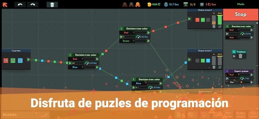 puzzles de programación para App Store