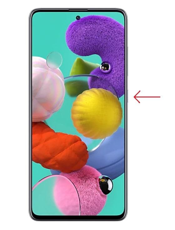 Botón de encendido Galaxy A51