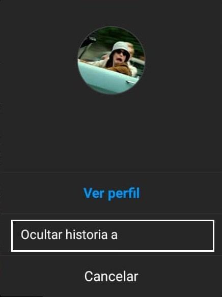 Ocultar Historia en Instagram