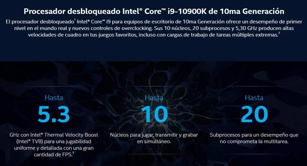 Procesador i9-10900K: Procesadores de juego más veloces del mundo