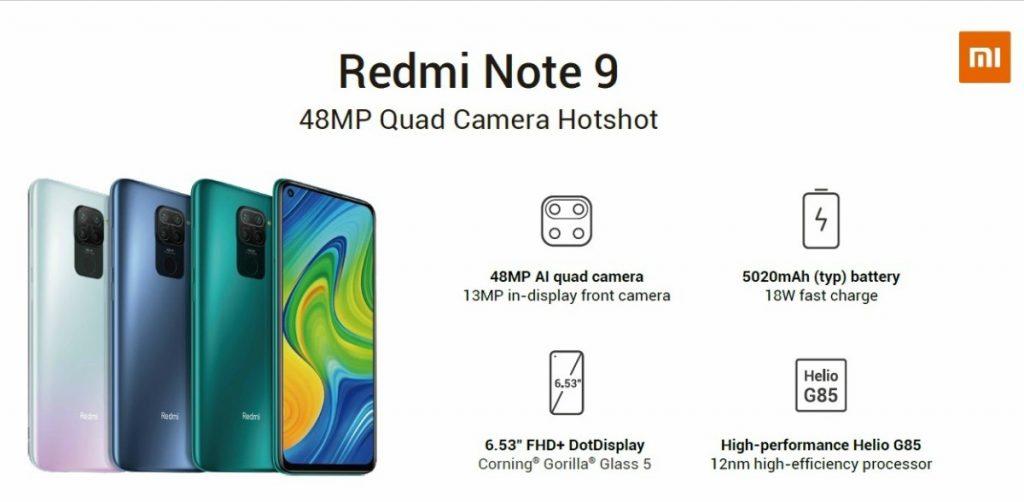 Folleto del Redmi Note 9