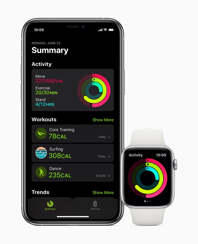 App Actividad WatchOS 7