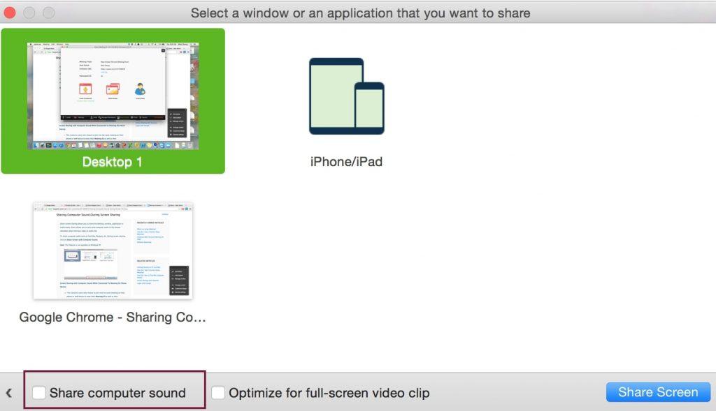 Compartir audio de Mac en Zoom