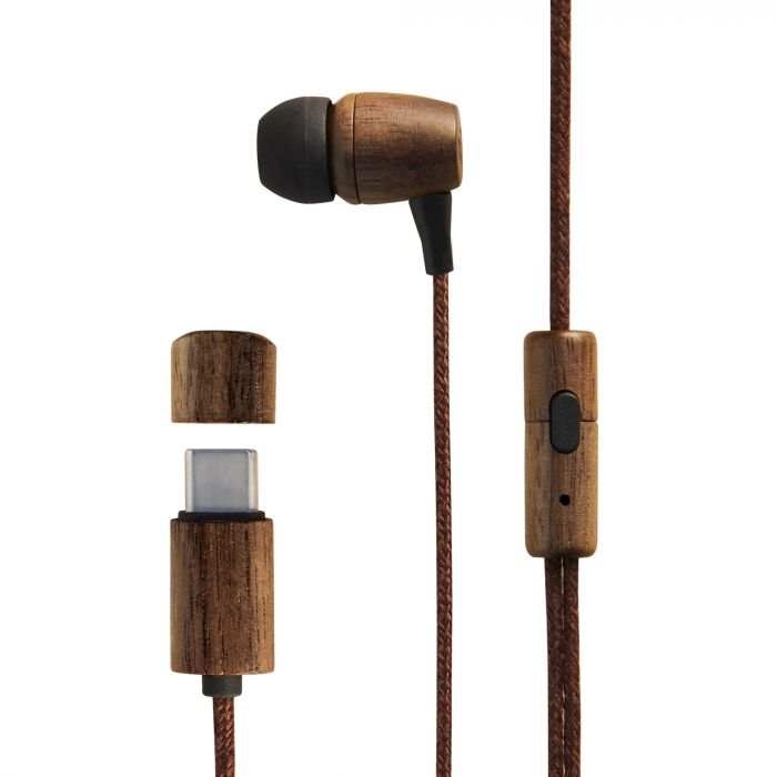Earphones Eco Walnut Wood