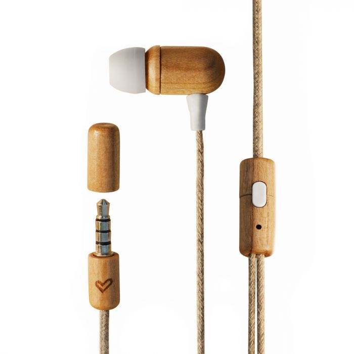 Earphones Eco Cherry Wood