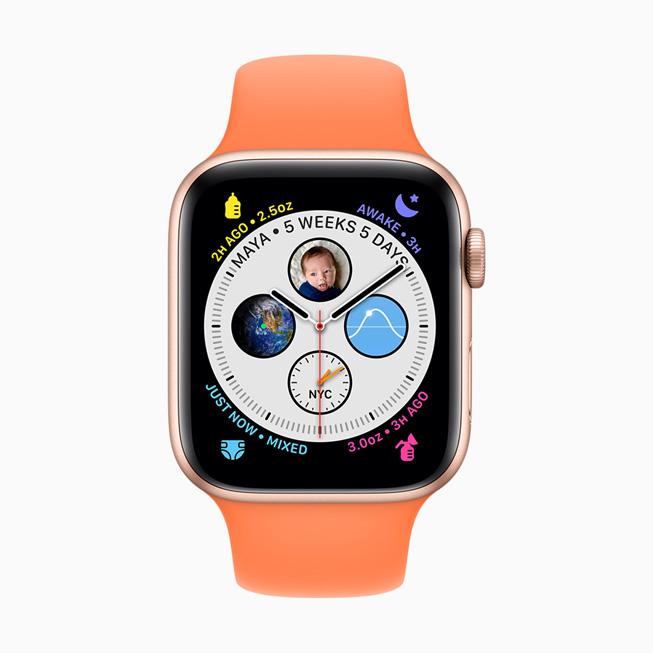 Esfera Glow Baby de WatchOS 7