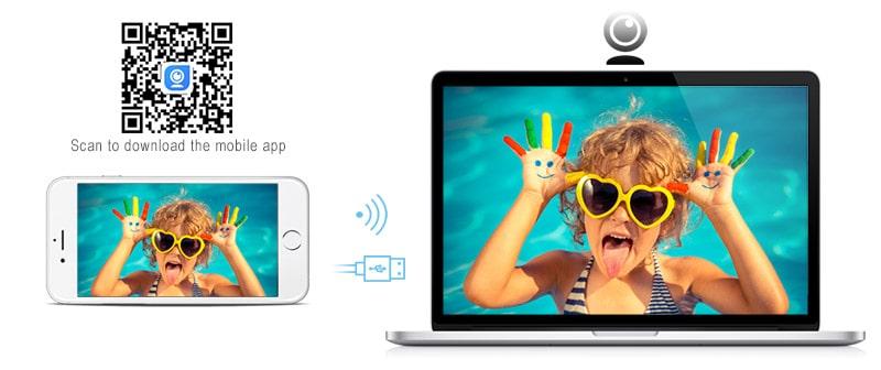 iPhone como webcam en Windows