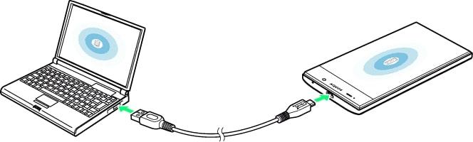 iPhone y PC conectados