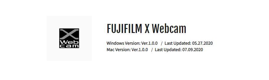 Sofware Fujifilm X webcam