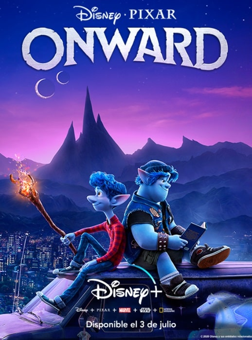 Poster de Onward en Disney Plus