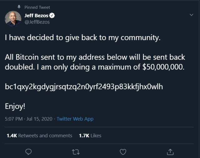 jeff bezos hackeado twitter bitcoin