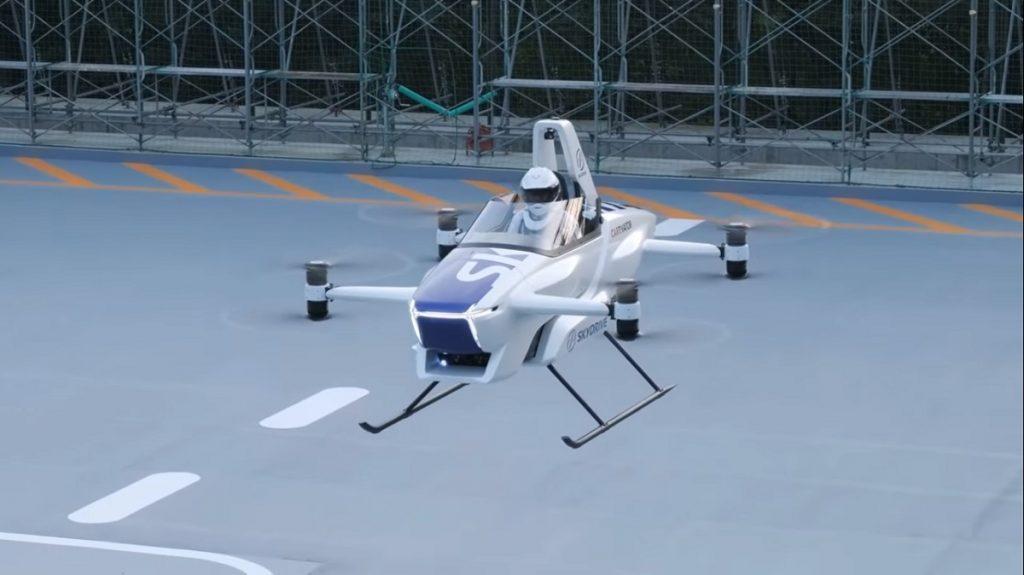 Prueba del coche volador SD-03 en Japón