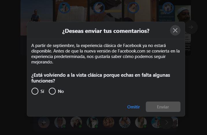 Facebook eliminará versión clásica de escritorio