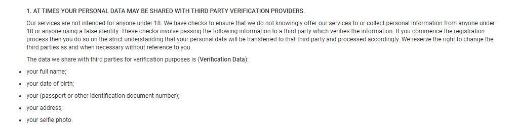 Acuerdo de privacidad de OnlyFans