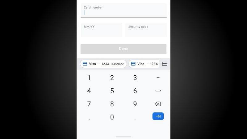 Contraseñas guardadeas en el teclado con Android 11