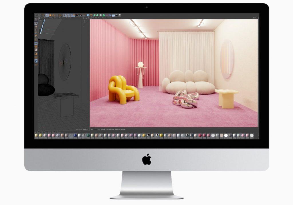 iMac 27 pulgadas usando Cinema4D