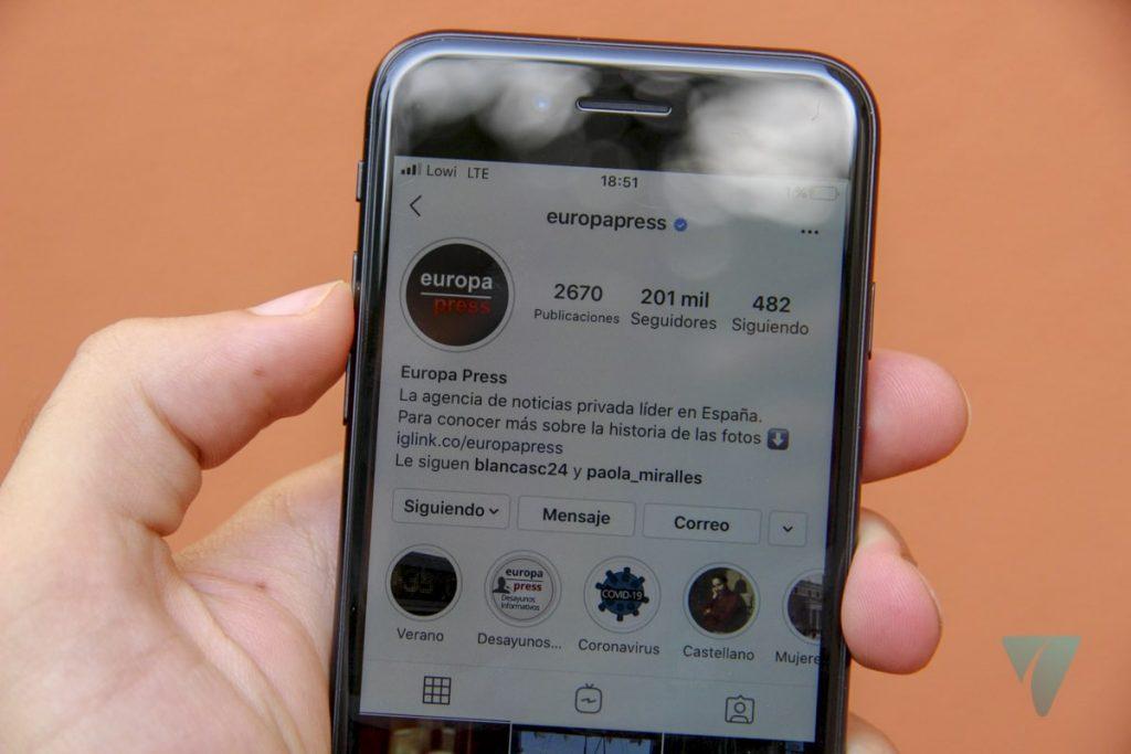 Instagram estilo iOS