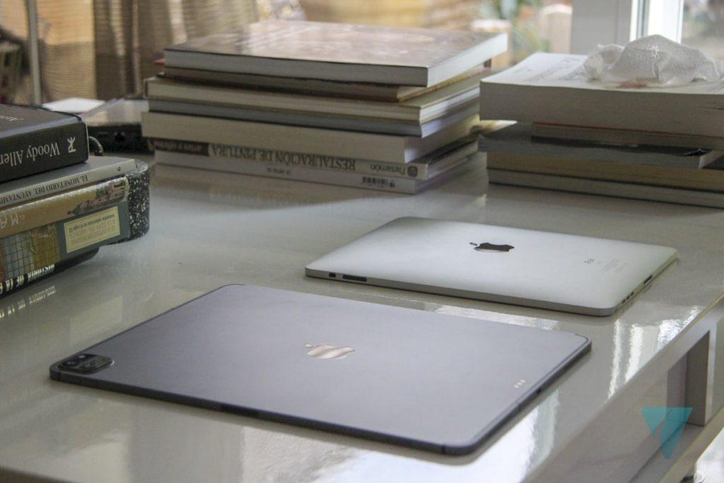 Comparativa diseño iPad original vs iPad Pro 2020