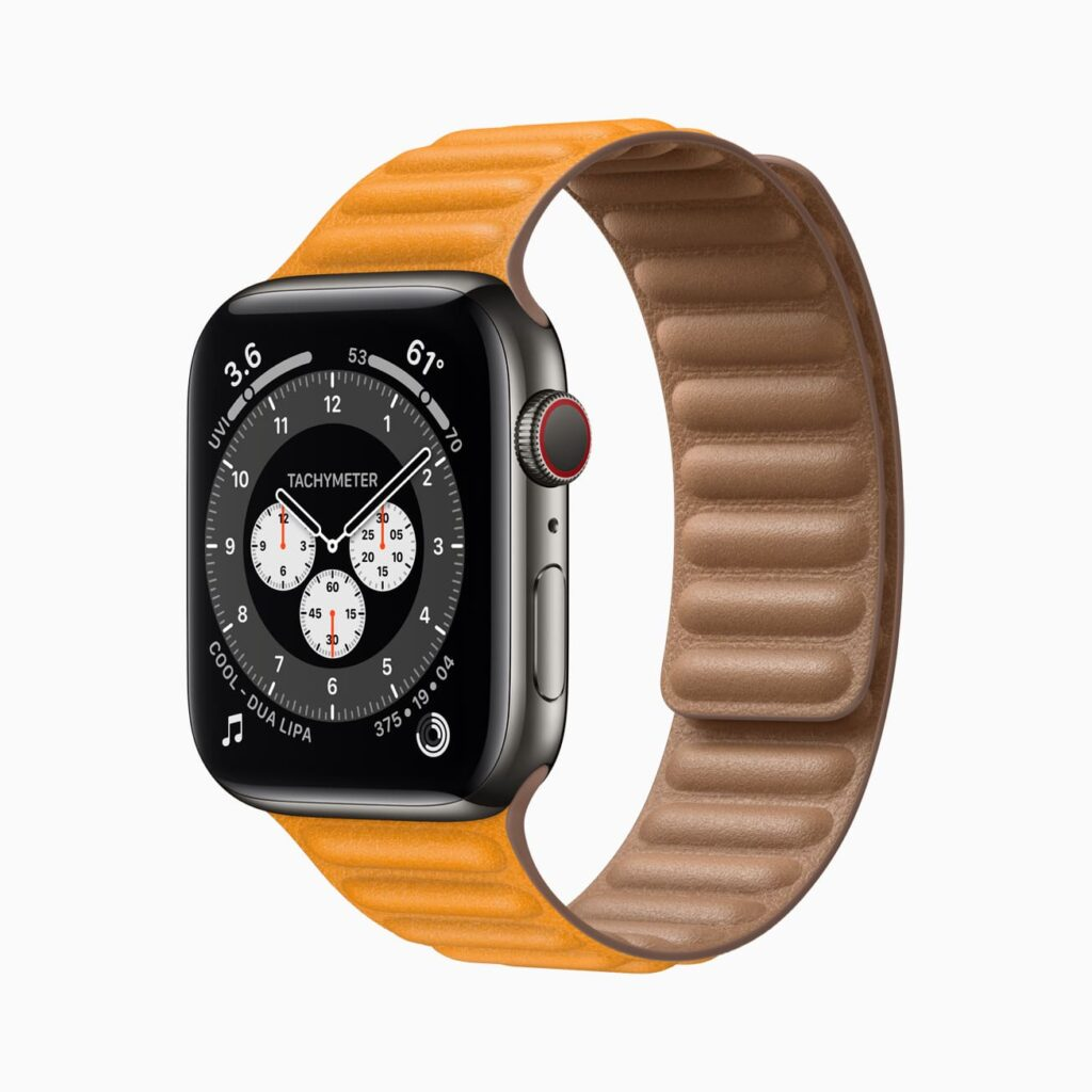Correa de cuero Apple Watch Series 6