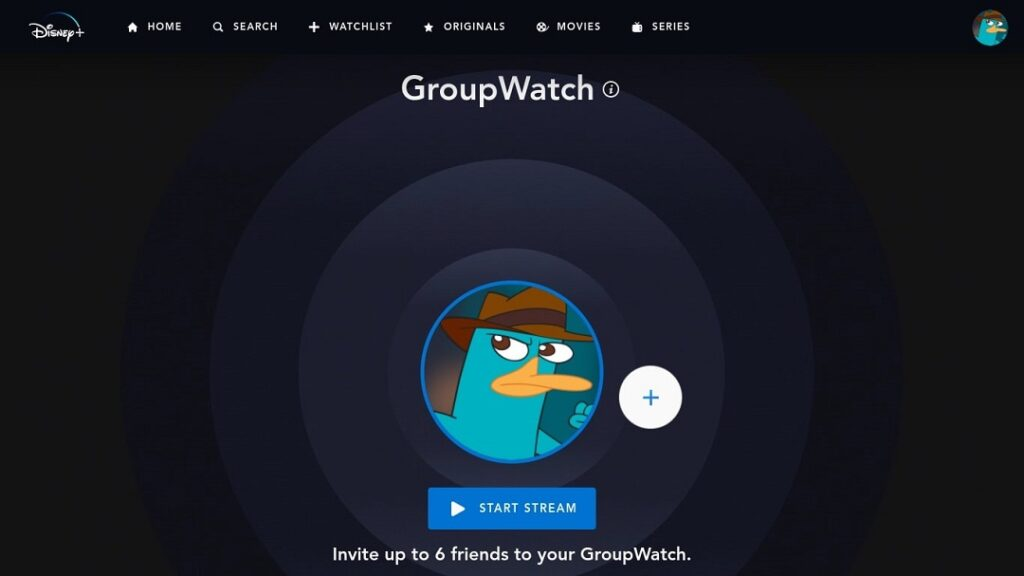 GroupWatch de Disney Plus