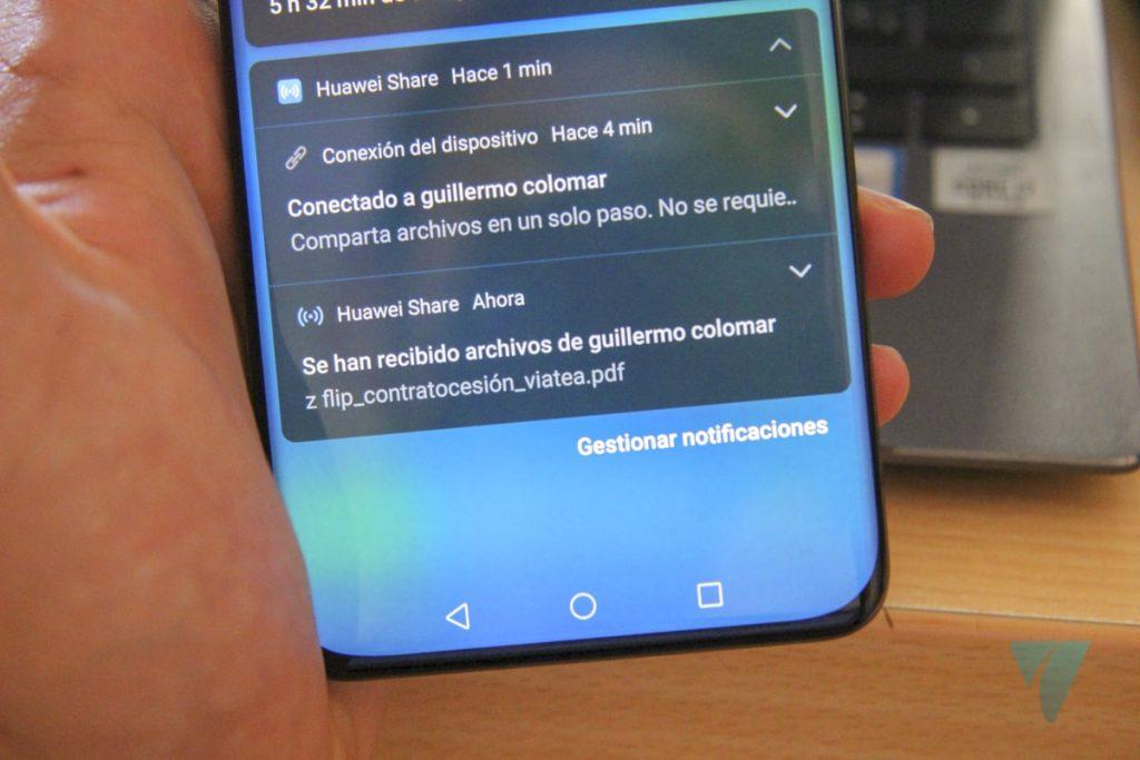 Huawei Share compartir archivos movil