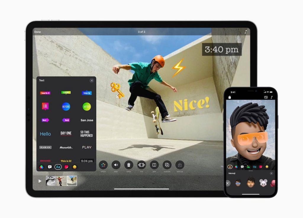Edición de clips desde el iPad y el iPhone