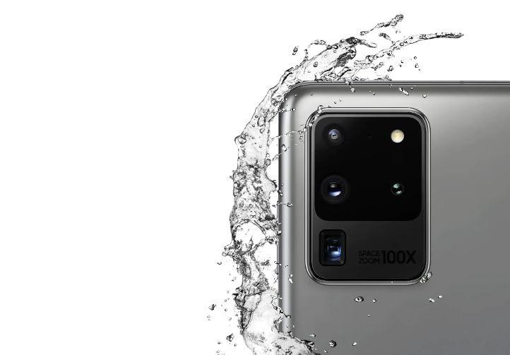 Samsung Galaxy S20 Ultra mojado