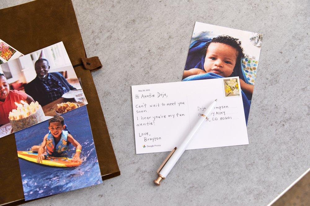 Google Premium Prints postales