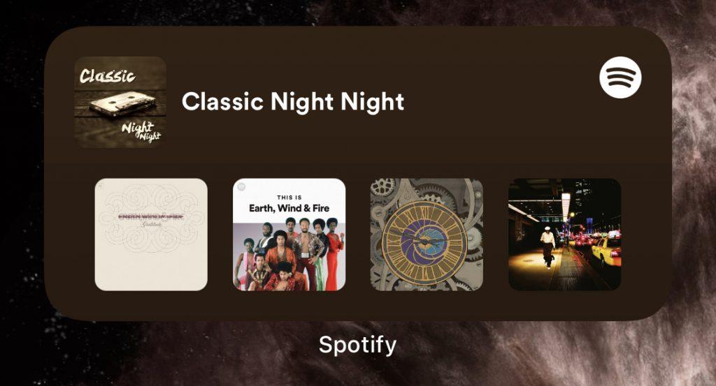 nuevo widget Spotify