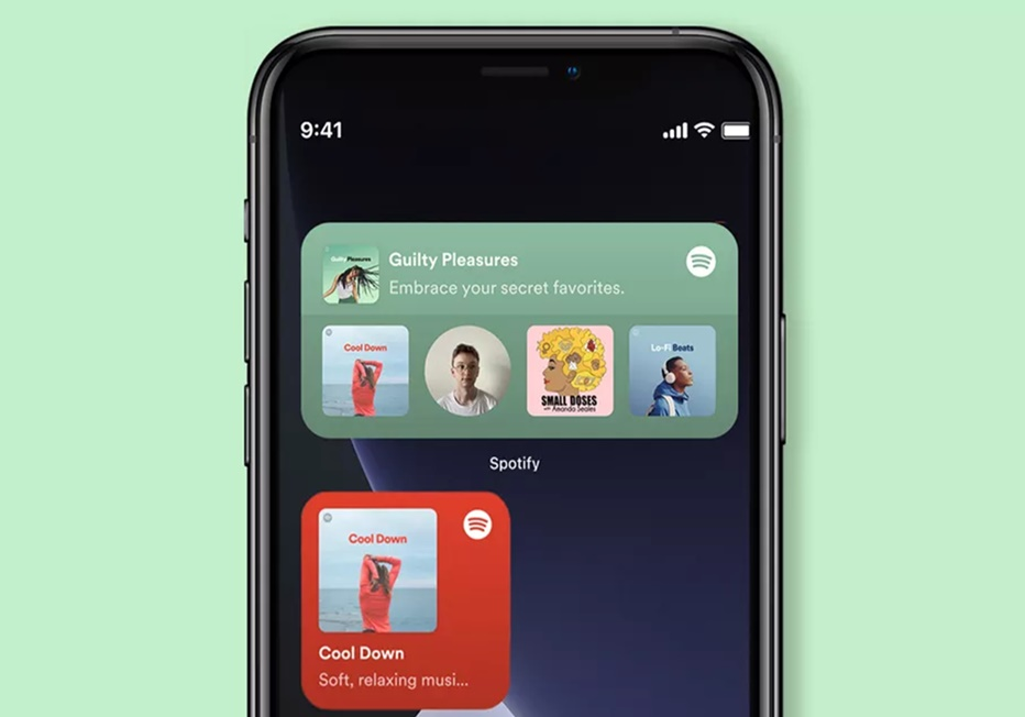 Widget de Spotify en iOS 14