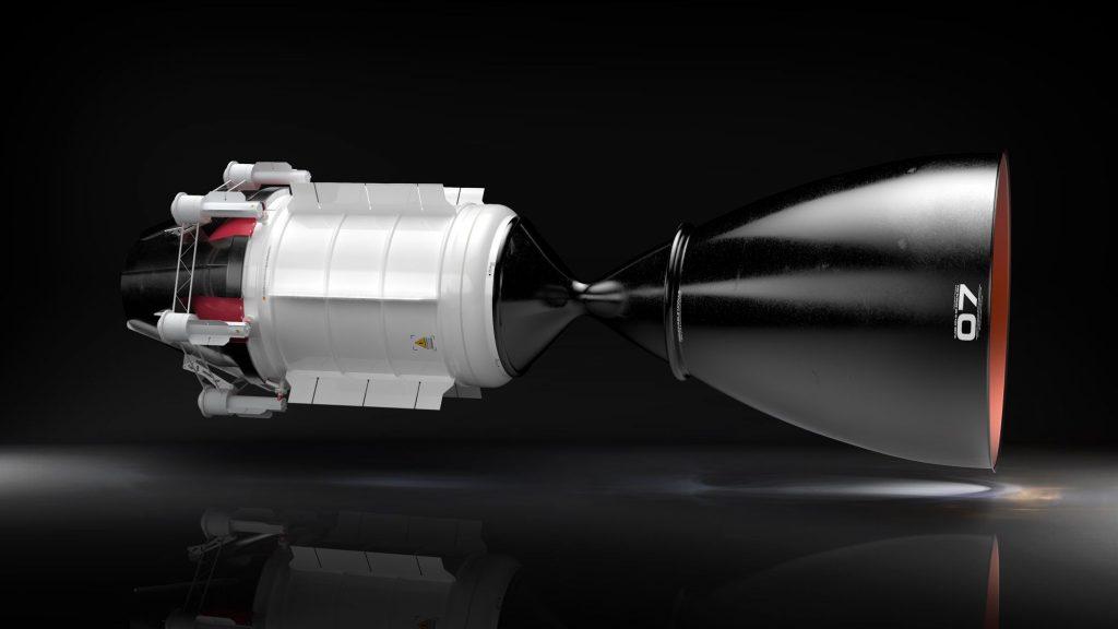 Cohete con motor de propulsión térmica nuclear para la NASA