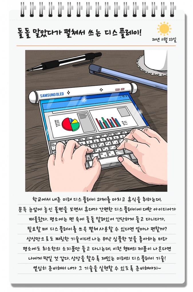 Samsung nos muestra un boceto de lo que serían sus nuevos equipos con pantallas triple plegable y enrollable