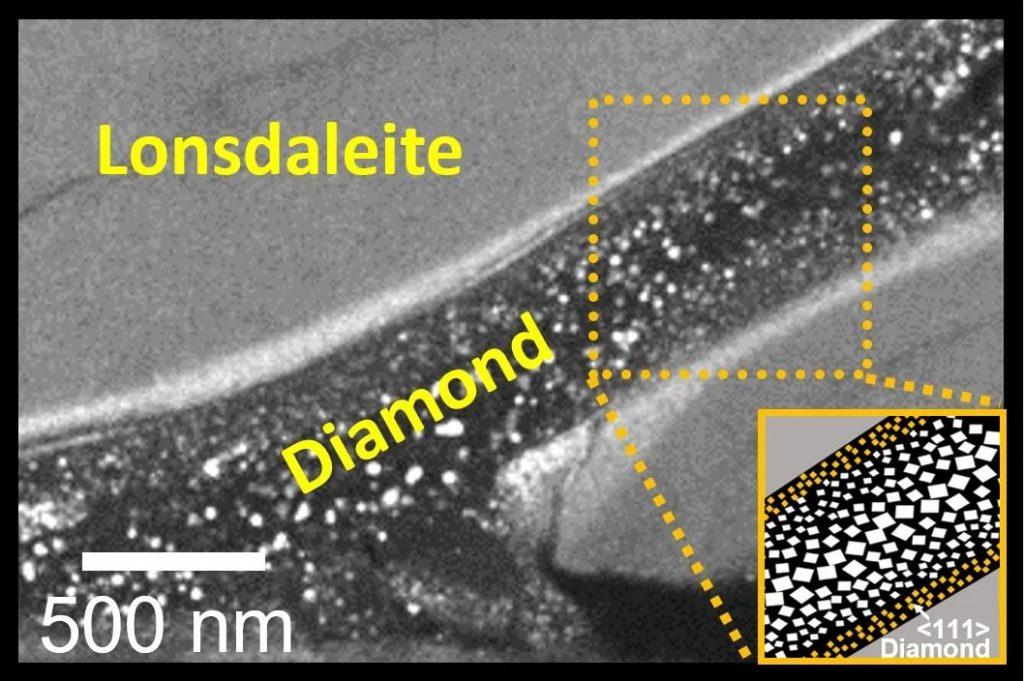 Diamantes creados a temperatura ambiente observados en microscopio.