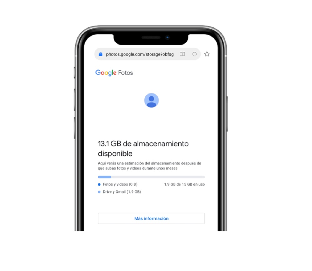 Espacio Google Photos