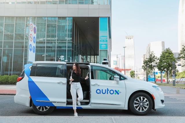 Robotaxis de AutoX en China.