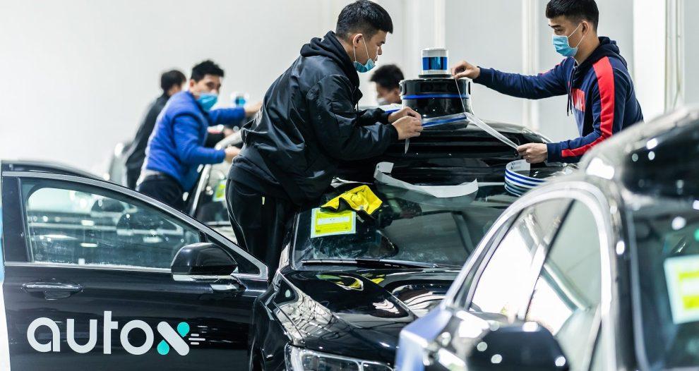 Trabajadores de AutoX en China.