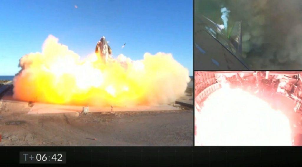 Explosión en prueba de vuelo de SpaceX.