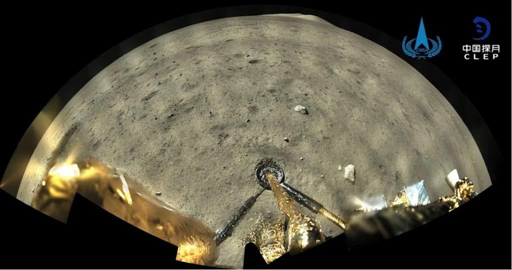 Imágenes a color de la Luna tomadas por Chang'e-5.