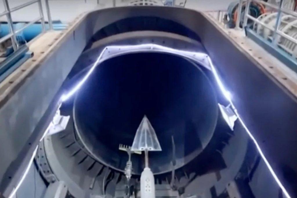 motor a reacción hipersónico en túnel de viento de Beijing.