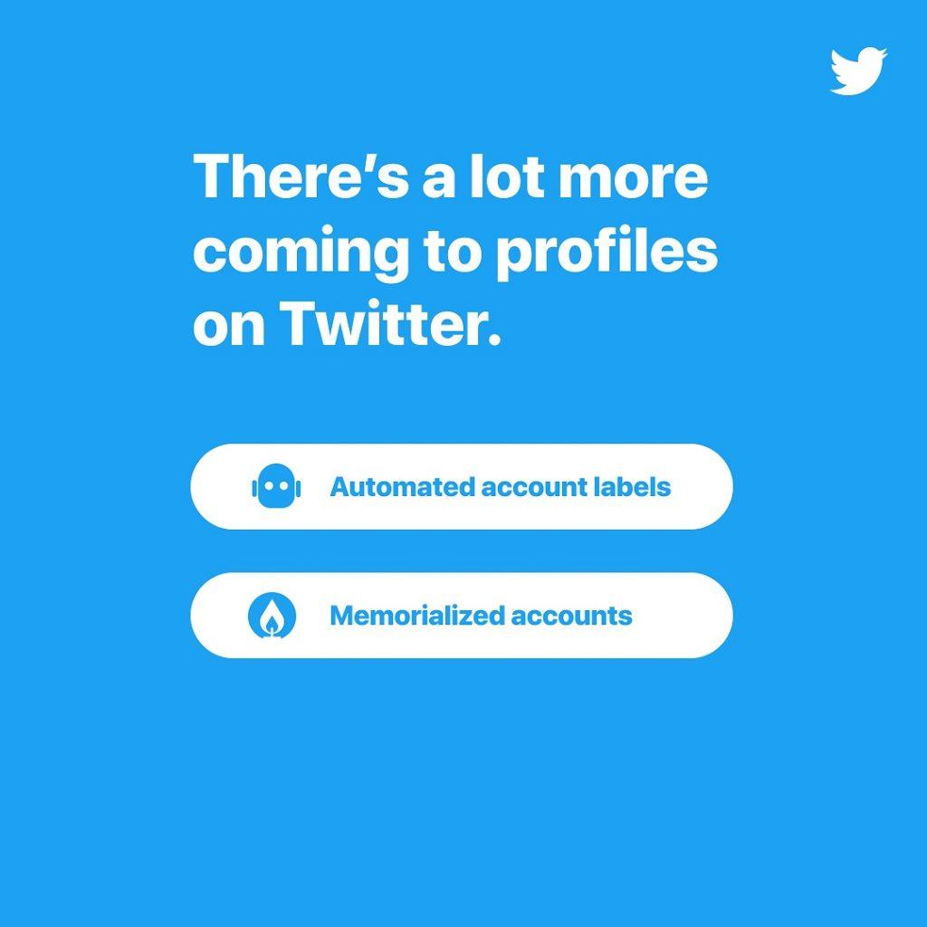 Twitter planea crear un nuevo tipo de cuenta para bots y usuarios conmemorativos.