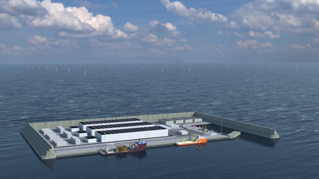 Isla para generar energía de Dinamarca