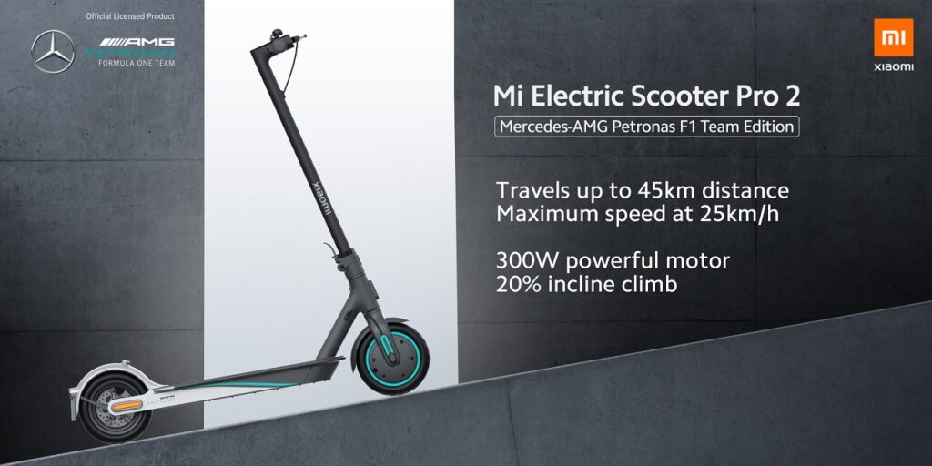 Mi Electric Scooter Pro 2 Mercedes-AMG Petronas F1 Team Edition.